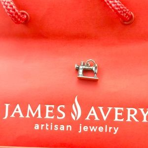 James Avery sewing machine charm. Cut loop.